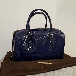 Kate Spade Navy Patent Leather Satchel